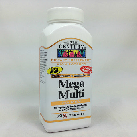 21st Century Mega Multi, Multivitamin, Men, 90ct 740985226582T720