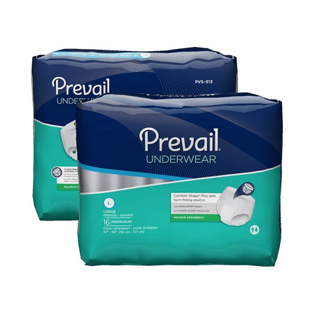 Prevail Adult Underwear Super Absorb, Large 4X16, 64ct 090891501137T3999