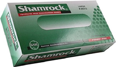 Shamrock Vinyl Smooth Exam Gloves, Small, 100ct 641932202119A391
