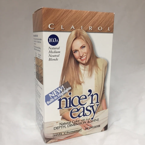 Nice & Easy, Natural Medium Blonde, 103A 1 Kit 070018116567C615