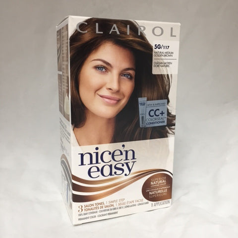 Nice 'N Easy Hair Color Medium Golden Brown 117, 1 Box 381519000300S660