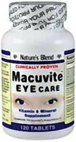 Nature's Blend Macuvite Eye Care Tablets, 120ct 079854012453A521