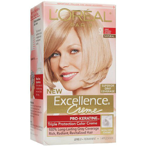 L'Oreal Paris Excellence Creme Kit Natural Blonde, 1ct 071249210758T699