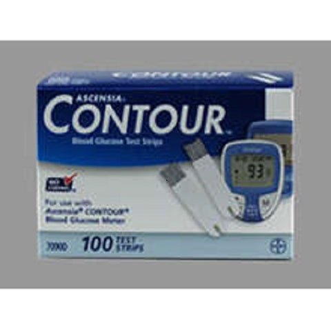 Bayer Contour Blood Glucose Test Strips, 100ct 301937090219S11019