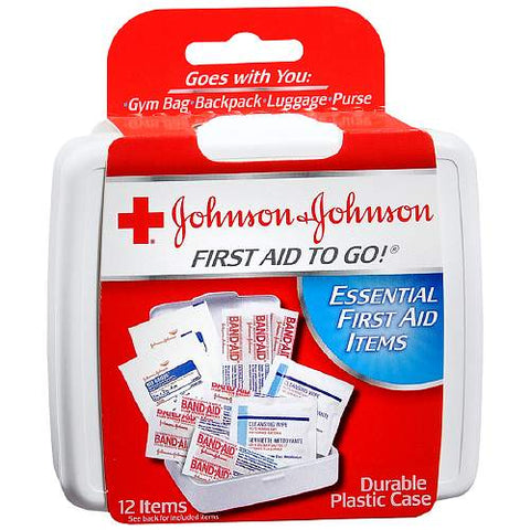 Johnson & Johnson Mini First Aid to Go Kit, 1ct 381370082958S079