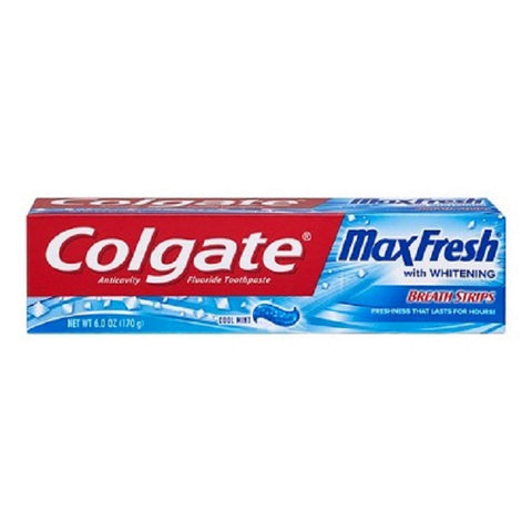 Colgate MaxFresh w/Mini Breath Strips Toothpaste, 6oz 035000764522A285