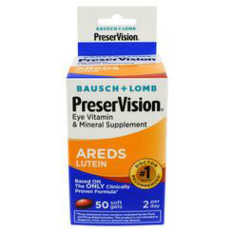 PreserVision Areds w/Lutein, Softgels, 50ct 324208632109S1273