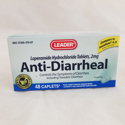 Leader Anti-Diarrheal Caplets, 48ct 096295112801A400