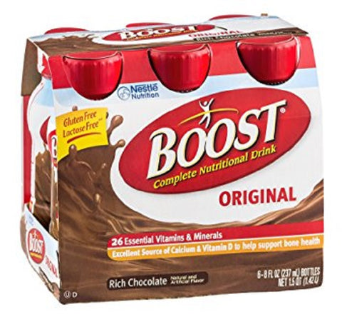 Boost Nutritional Energy Drink, Chocolate, 6ct X 8oz 041679675663F3308