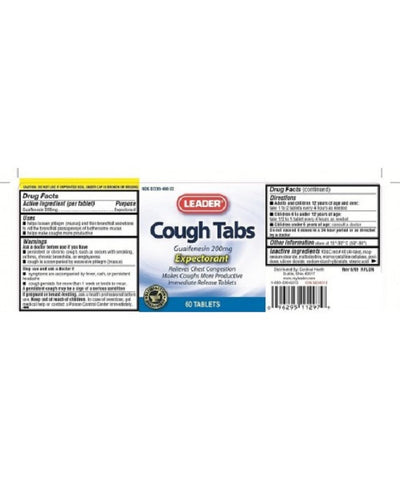Leader Cough Tablets, 200mg, 60ct 096295112979A350