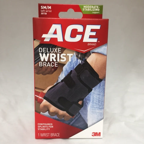 Ace TekZone Deluxe Wrist Brace Left, Small/Medium, 1ct 051131198272S924