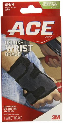 Ace TekZone Deluxe Right Wrist Brace, Small/Medium 051131198296A925