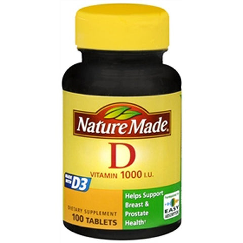 Nature Made Vitamin D3 1000 IU Tablets, 100ct 031604018702S472