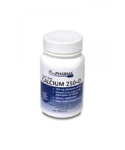 Plus Pharma Oyster Shell Calcium w/D Tablets, 100ct 837864000361A219
