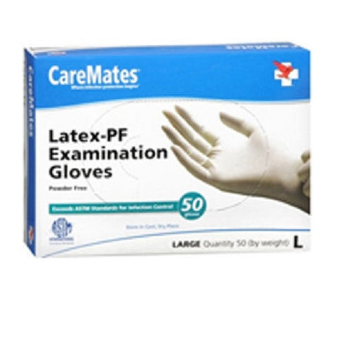 CareMates Latex-PF Exam Gloves, Large, 50ct 715912053135A569