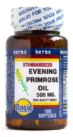 Basic's Evening Primrose Oil Softgels, 500mg, 100ct 307610141209A420