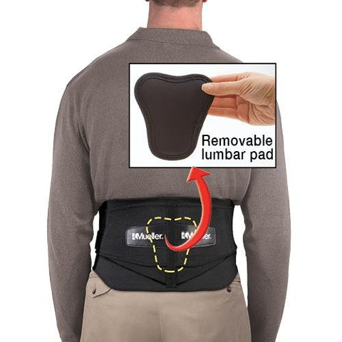 Mueller Back Brace Lumbar, Adjustable, One Size, 1ct 074676672113S1543