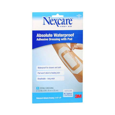 Nexcare Adhesive Pads Absolute Waterproof 3.5x8IN, 1ct 051131948952F216