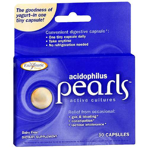 Enzymatic Therapy Acidophilus Pearls Probiotics, 30ct 763948042937T949