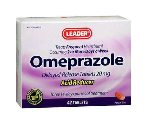 Leader Omeprazole Tablets, 20mg, 42ct 096295115246A1750