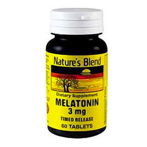Nature's Blend Melatonin 3 mg Timed Release, 60ct 079854050264T373