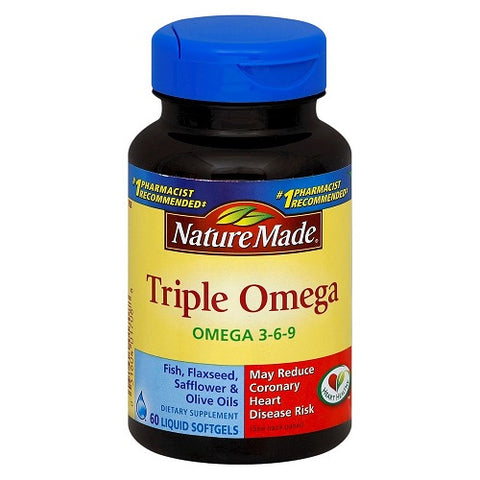 Nature Made Triple Omega 3-6-9, Softgels, 60ct 031604017088S944