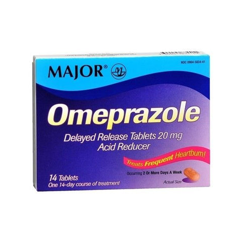 Major Omeprazole Delayed Release Tablets, 20mg, 14ct 309045834411S945