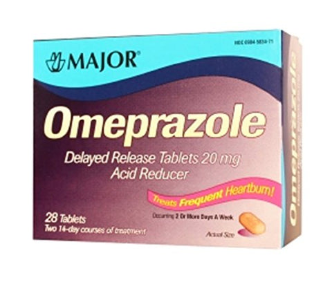 Major Omeprazole Delayed Release Tablets, 20mg, 28ct 309045834718S1650