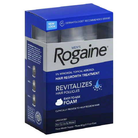 Men's Rogaine 5% Hair Regrowth Treatment, 3 X 2.11oz 312547781350S4025