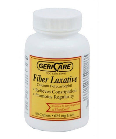 GeriCare Fiber Laxative Caplets, 625mg, 90ct 357896449094A640