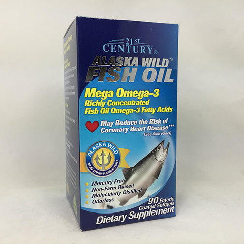 21st Century Alaska Wild Fish Oil Softgels, 90ct 740985271292A1005