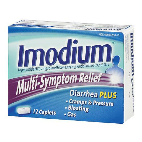 Imodium Relief Antidiarrheal/Anti-Gas Caplets, 12ct 300450212122T474