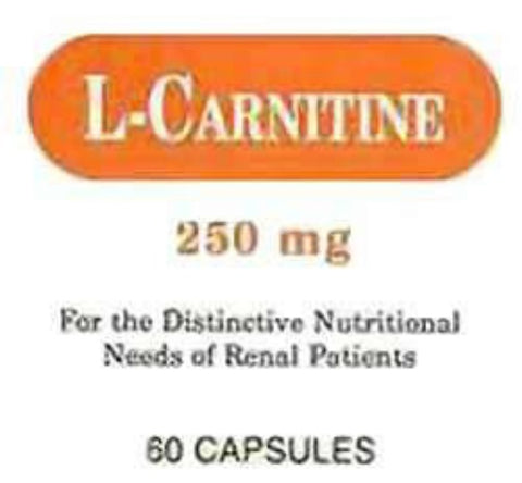 Major L-Carnitine Capsules, 250mg, 60ct 005367410080G3047
