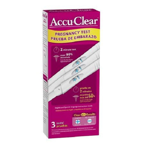 Accu-clear Pregnancy Visual Stick, 3ct. 751774975932C673
