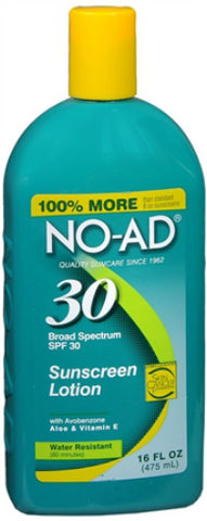 NO-AD Sunscreen Lotion, SPF 30, 16oz 897640002149A730
