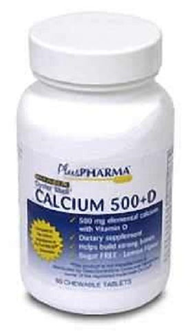 Plus Pharma Oyster Shell Calcium 500mg +D, 120ct 837864000392S488