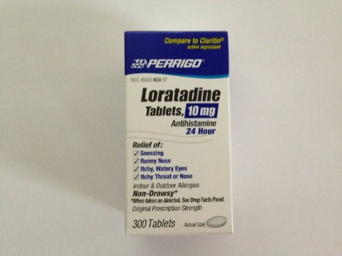 Perrigo Loratadine Tablets, 24hr, 10mg, 300ct 345802650870A1200