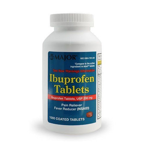 Major Ibuprofen Coated Tablets, 200mg, 1000ct 309047915804T1510