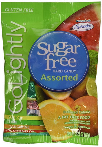 Go Lightly Sugar Free Candy, Assorted, 2.75oz Bag 030568121114T185
