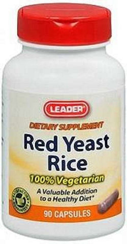 Leader Red Yeast Rice Caplets, 600mg, 90ct 096295117981A816