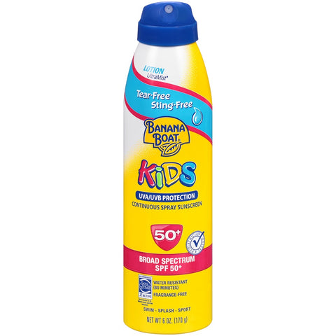 Banana Boat Tear-Free Kids SPF50 Sunscreen, 6oz 079656046618S700