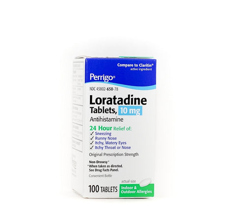 Perrigo Loratadine 24hr Tablets, 10mg, 100ct 345802650788A575