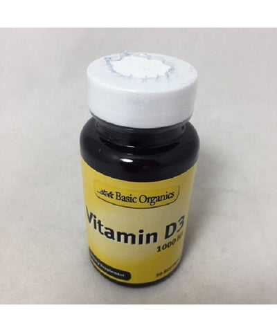 Basic Organics Vitamin D3 1000 IU Softgels, 30ct 054458323341S219