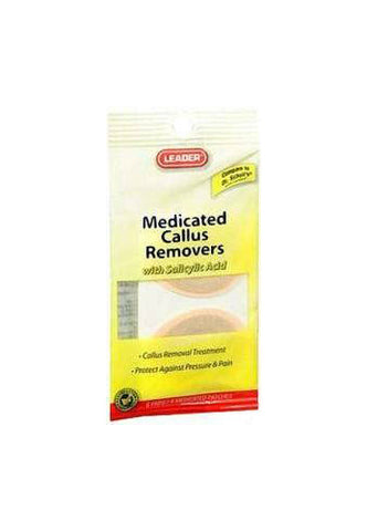 Leader Medicated Callus Removers w/Salicylic Acid, 6ct 096295119091A125