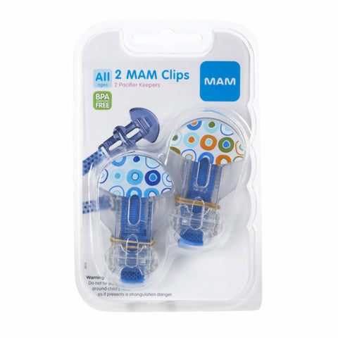 MAM Pacifier Keepers, Colors May Vary, BPA Free, 2ct 845296081025A386