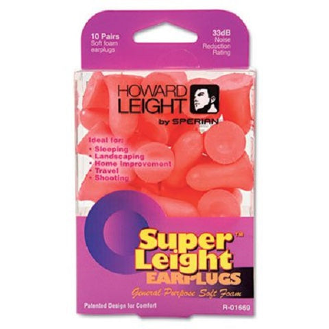 Howard Leight Earplugs, Foam, Orange, 10pairs 033552016694S236