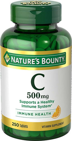 Nature's Bounty Vitamin C, 500mg, Tablets, 250ct 074312014741T724