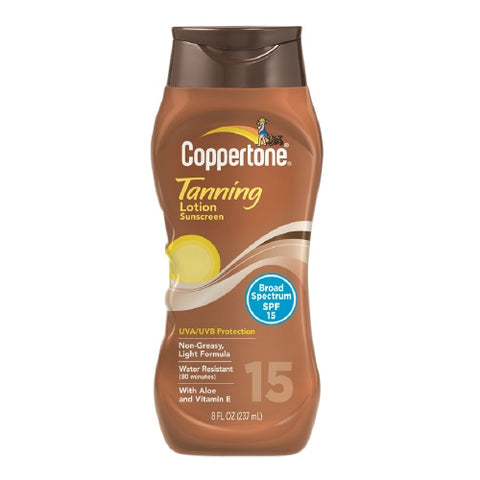 Coppertone Tanning Lotion, SPF15, 8oz 041100704474A603