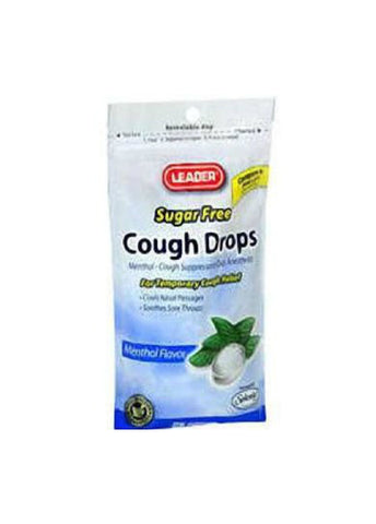 Leader Cough Drops, Sugar Free, Menthol, 25ct 096295120059A091