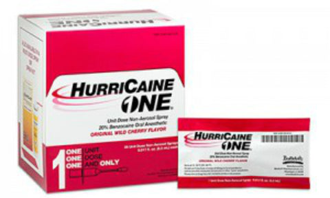 HurriCaine One Benzocaine Non-Aerosol Spray 0.5ml, 2ct 302830610115S2037